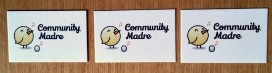 community madre tarjetas