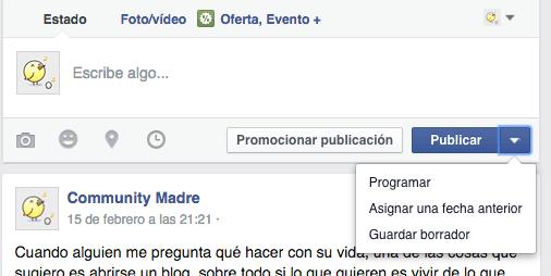 programar actualizacion fb