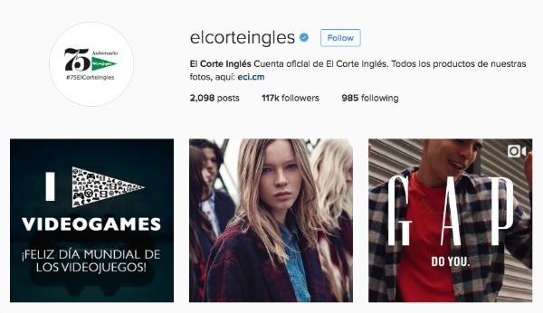 El Corte Inglés en Instagram